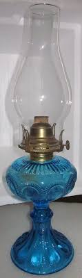 vintage blue glass hurricane lamp design ideas