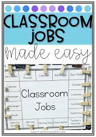 Class Jobs Made Easy Classroom Job Chart Classroom Jobs