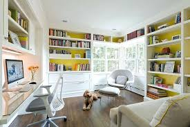 Trendy home office Luxury Home Office Built In Cabinets Custom Built Desk And Dazzling Shelves For The Trendy Home Office Design Home Office Cabinets Built In Tall Dining Room Table Thelaunchlabco Home Office Built In Cabinets Custom Built Desk And Dazzling Shelves
