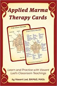 Marma Points Chart Applied Marma Therapy Cards Amazon Co Uk Vasant Lad Bams
