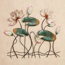 lotus lake blossoms wall art pink touch to zoom on lotus wall art metal with lotus lake blossoms lily pad metal wall art