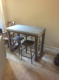 Cb2 Stern Counter Table And 4 Flint Counter Stools For Sale In Los