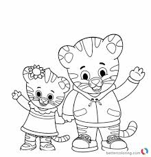Daniel Tiger Christmas Coloring Page With Pbs Kids Pages At