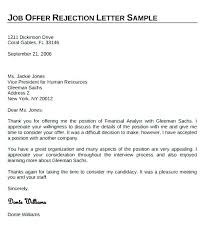 Accepting Offer Letter Free Job Acceptance Letter Sample Of Accepting Offer Reject