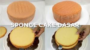 Nggak pake pengembang apapun, apa nggak bantat ya? Sponge Cake Dasar Tanpa Pengembang Dan Emulsifier Basic Sponge Cake Basics Youtube