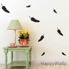 feather wall sticker feathers wall decal diy modern easy wall stickers decorative feathers wall art m10