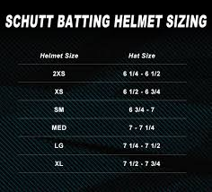 Youth Batting Helmet Size Chart Best Picture Of Chart