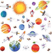 Skyllc® i pianeti nello spazio adesivi murali camera da letto