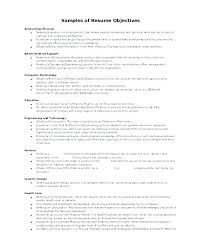 Samples Of Career Objectives On Resumes Bitacorita