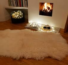 xl quad sheepskin rug