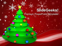 Church Christmas Tree With Colored Balls Festival Ppt Template