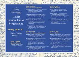 senior essay symposium a presentation by yale college seniors  hope to see you there