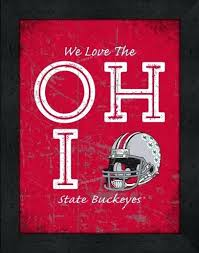 ohio state wall decor buckeyes love my team vertical color state wall decorations
