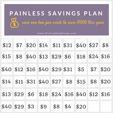 Weekly Saving Plan Chart Super Easy 1000 Savings Plan This Tiny Blue House