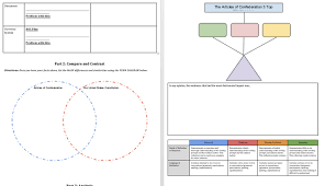 Articles Of Confederation And Constitution Venn Diagram