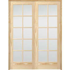 10 lite french unfinished pine solid core wood