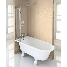 burlington hampton showering bath bathroom city shakespeare freestanding  shower and screen with rail