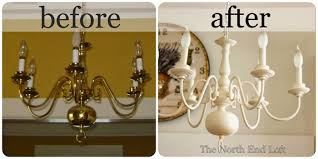 if you need a new light fixture on a budget keep an eye out for an old 1990 s brass chandelier it s an easy diy project you can spray paint it almost any