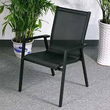 abigail chair black modern aluminium garden chair