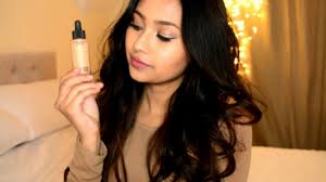 mac studio waterweight foundation review demo on dry skin nc40