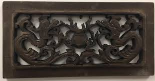 vintage chinese 3d high relief carved