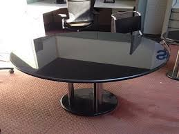 round granite table set black