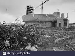 reconstruction in Irpinia after the earthquake of 1980, the new church in  Bisaccia Village....- ricostruzione in Irpinia dopo il terremoto del 1980,  la nuova chiesa nel paese di Bisaccia Stock Photo - Alamy