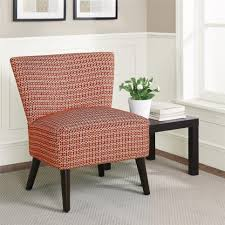 red accent chairs for living room. Casual Red And White Striped Accent Chair With Wooden Leg Chairs For Living Room C