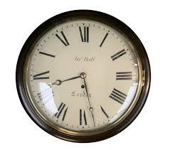 mahogany cased eight day fusee wall clock by john ball london 1 of 4
