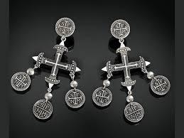 cross chandeliers dangle earrings