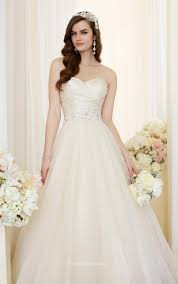 Lace Up Ruched Bodice Strapless Sweetheart Ball Gown Wedding Dress