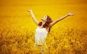 mood girl flowers yellow nature