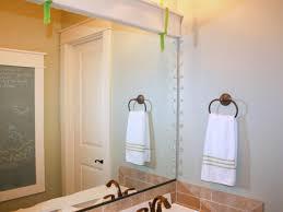 How To Frame A Mirror HGTV - Trim around bathroom mirror