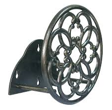 ames wall mount hose reel cast aluminum garden mounted holder poly antique bronze decorative swive