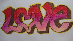 how to draw 3d graffiti love