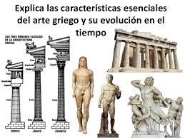 Explica las características esenciales del arte griego y su evolución…
