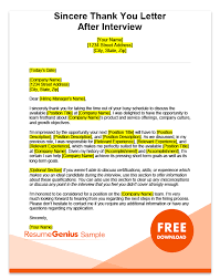 Letter To Interview After Interview Thank You Letters Samples Free Ms Word