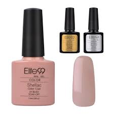 Elite99 Nail Art Uv Gel Polish Soak Off Manicure 90485 Top Base Coat