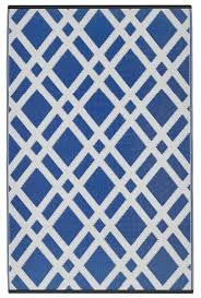 zipcode design reva dazzling blue white area rug