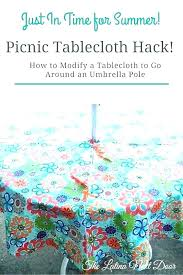 tablecloth with umbrella hole patio