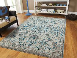 1 of 2 traditional rugs 8x10 blue gray distressed persian rug 5x8 vintage carpet 2x4 ru