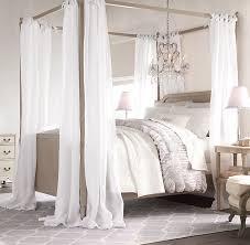 Sheer Belgian Linen Bed Canopy Panels (Set of 2)
