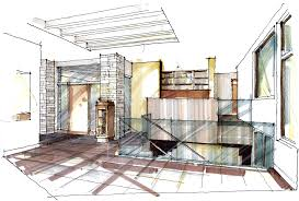 modern architectural sketches. Interior Rendering Of A Modern Home That Was Completed Almost 2 Years Ago And Won Several Awards At The GOHBA In Christopher Simmonds Architect Architectural Sketches