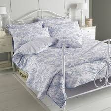 riva paoletti canterbury tales 100 cotton 200 thread count duvet cover set blue single linens limited