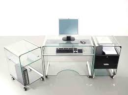 large glass office desk. Various Furniture Fetching Glass Top Office Desk In Silver Metal Inovative With Return Large E