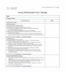 Self Evaluation Template City Co Examples Assessment Sample Form For ...