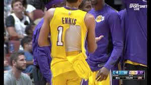 lebron ripped jersey. tyler ennis\u0027s nike jersey rips during lakers 1st preseason game vs timberwolves lebron ripped