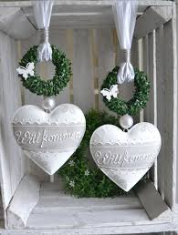 Fensterdeko Türdeko Metall Herz Willkommen Dekor Türdeko