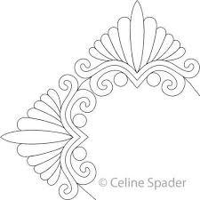 Digital Quilting Design Bonnie's Feather Triangle Border Corner by ... & Digital Quilting Design Bonnie's Feather Triangle Border Corner by Celine  Spader. Adamdwight.com