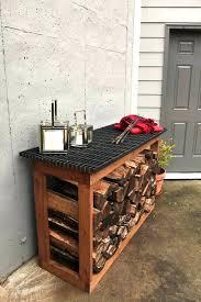 diy wood rack an outdoor counter with storage space diy wood storage rack plans